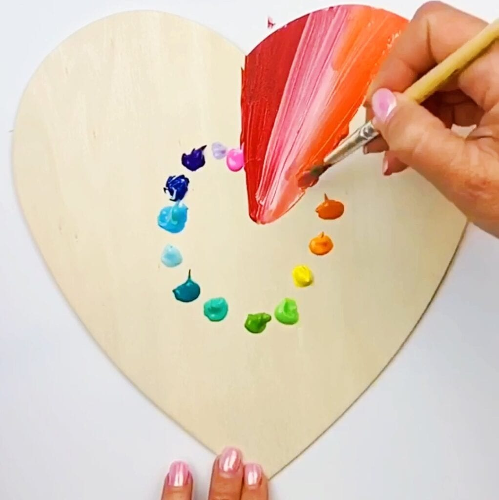 Easy Abstract Painting Ideas Painted Hearts Color Made Happy