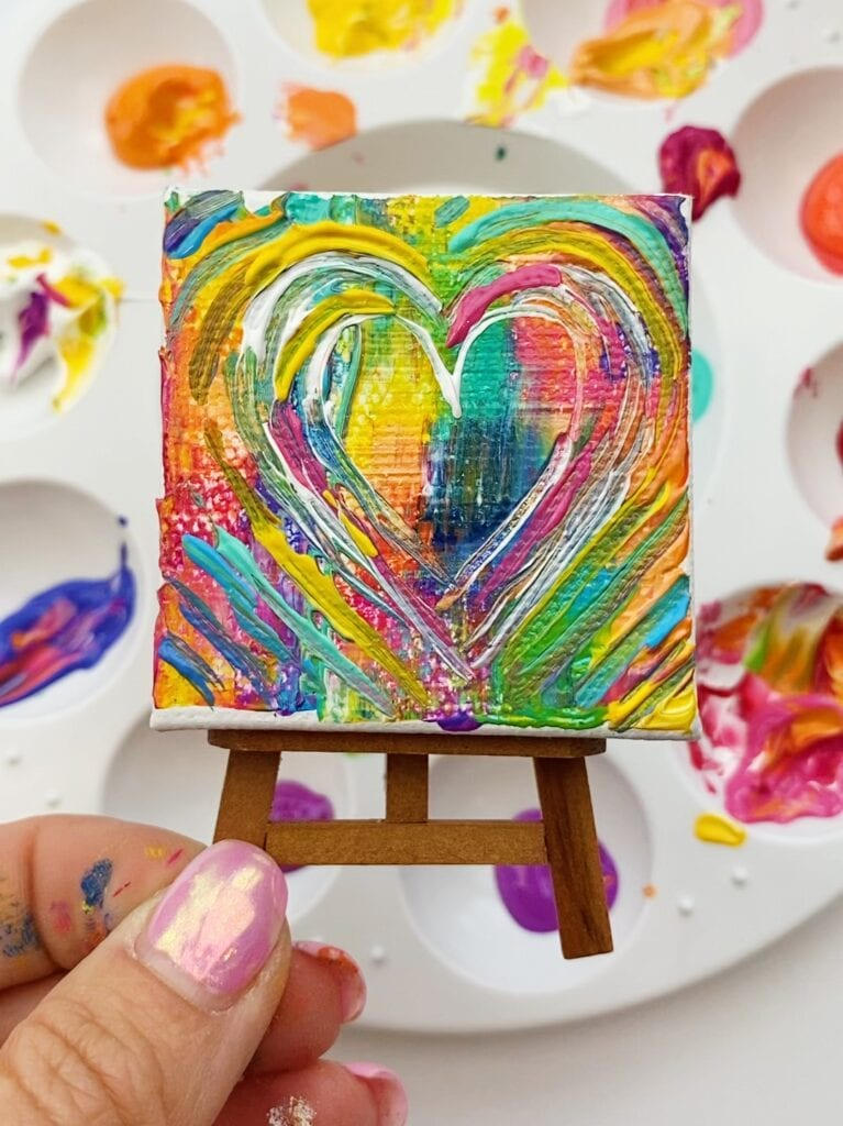 Abstract Heart Art Project