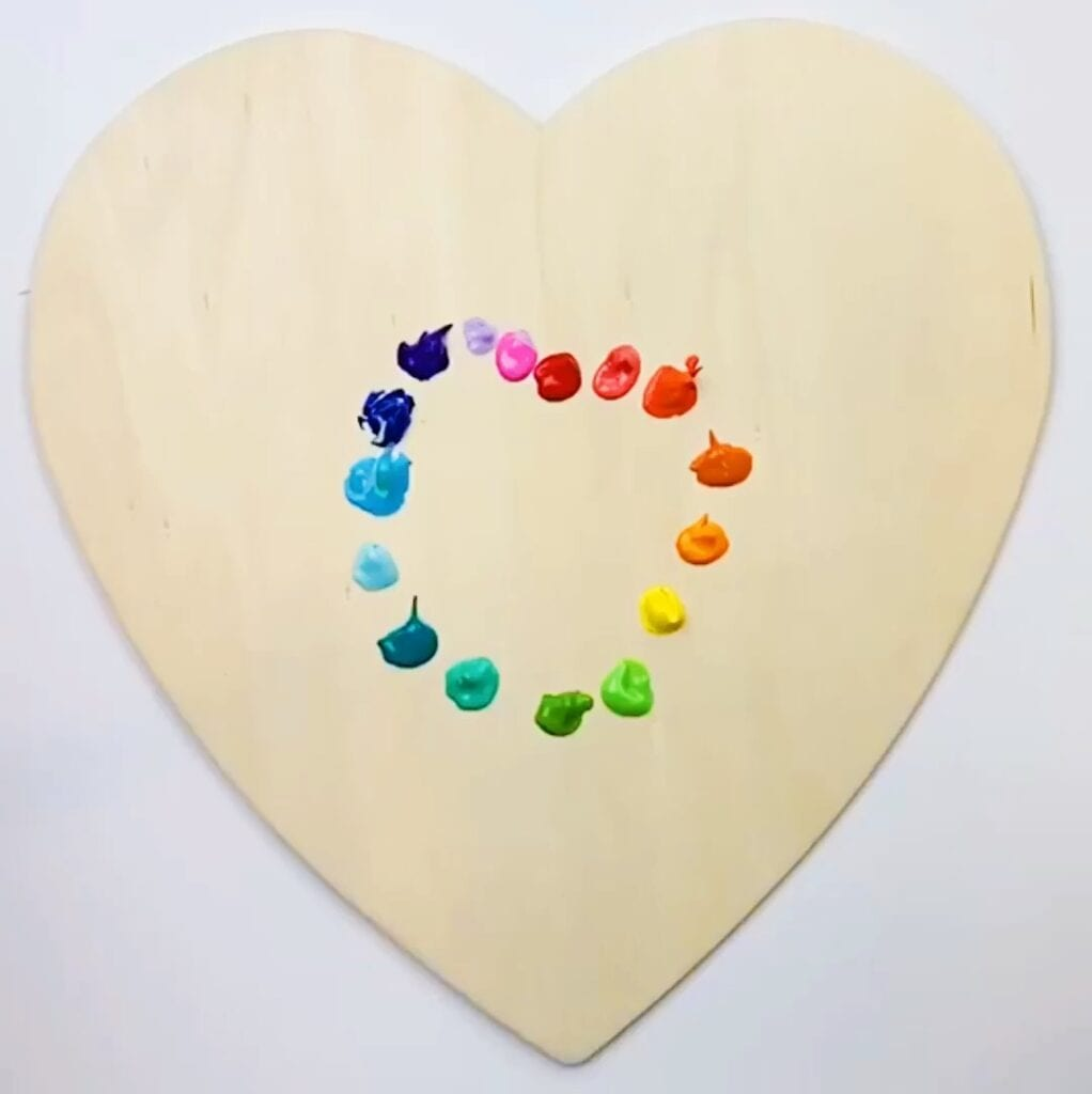 Heart Art Projects Abstract Painted Hearts Color Made Happy