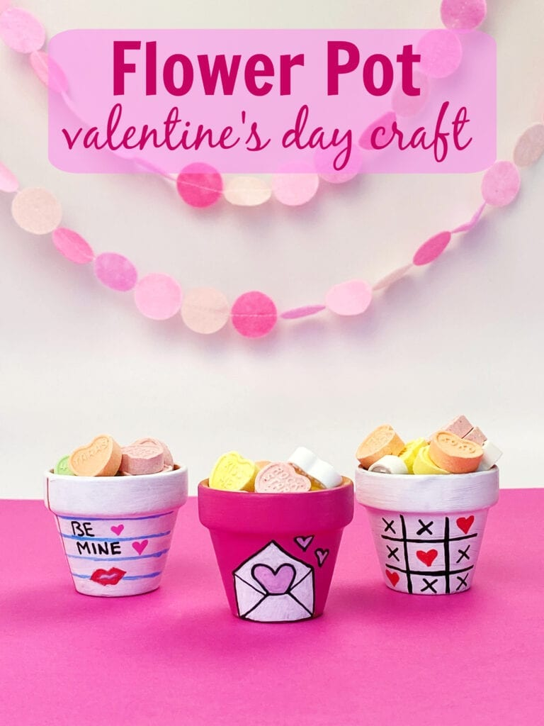 Make these this homemade Valentine's Day Gift using flower pots.