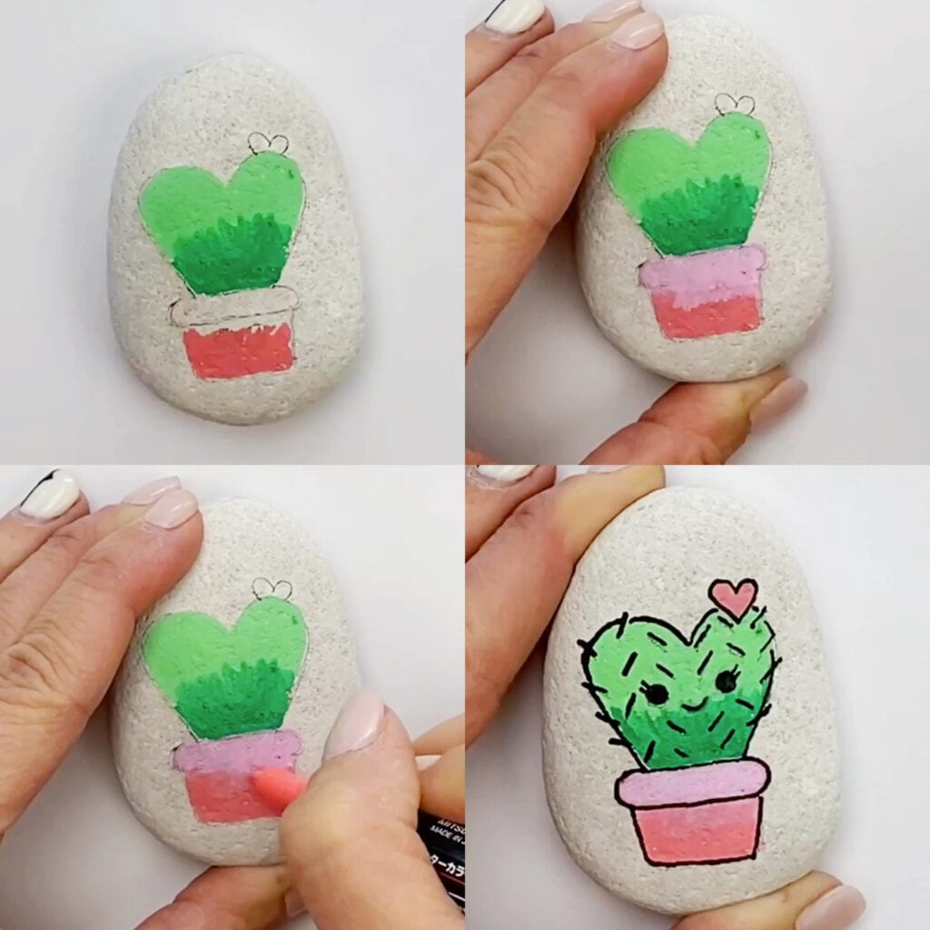 Cactus Painted Rock