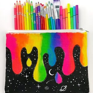 Galaxy Painted Pencil Pouch thumbnail