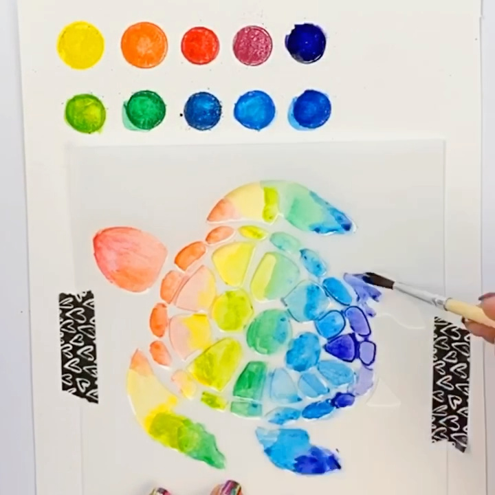 How to Turn Watercolor pencils into a Paint Palette
