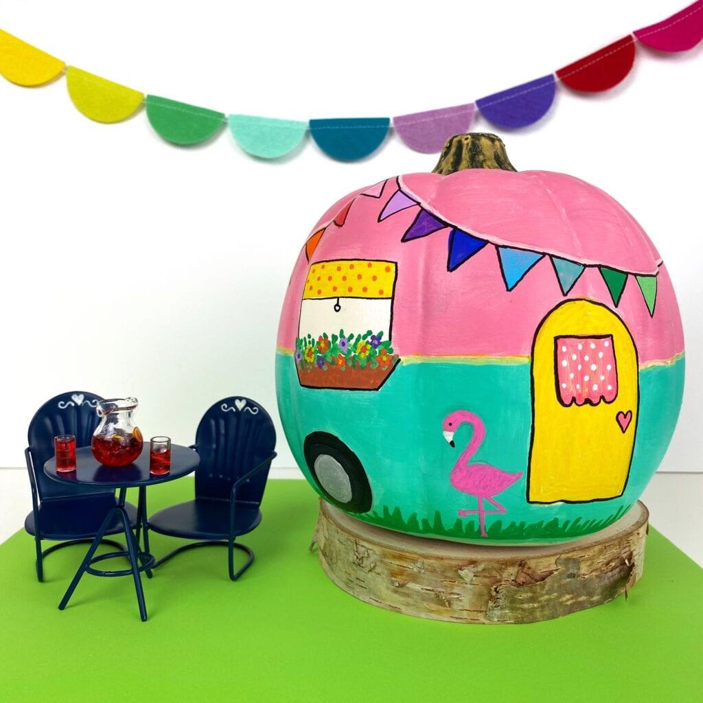 Painted Camper Pumpkin Tutorial