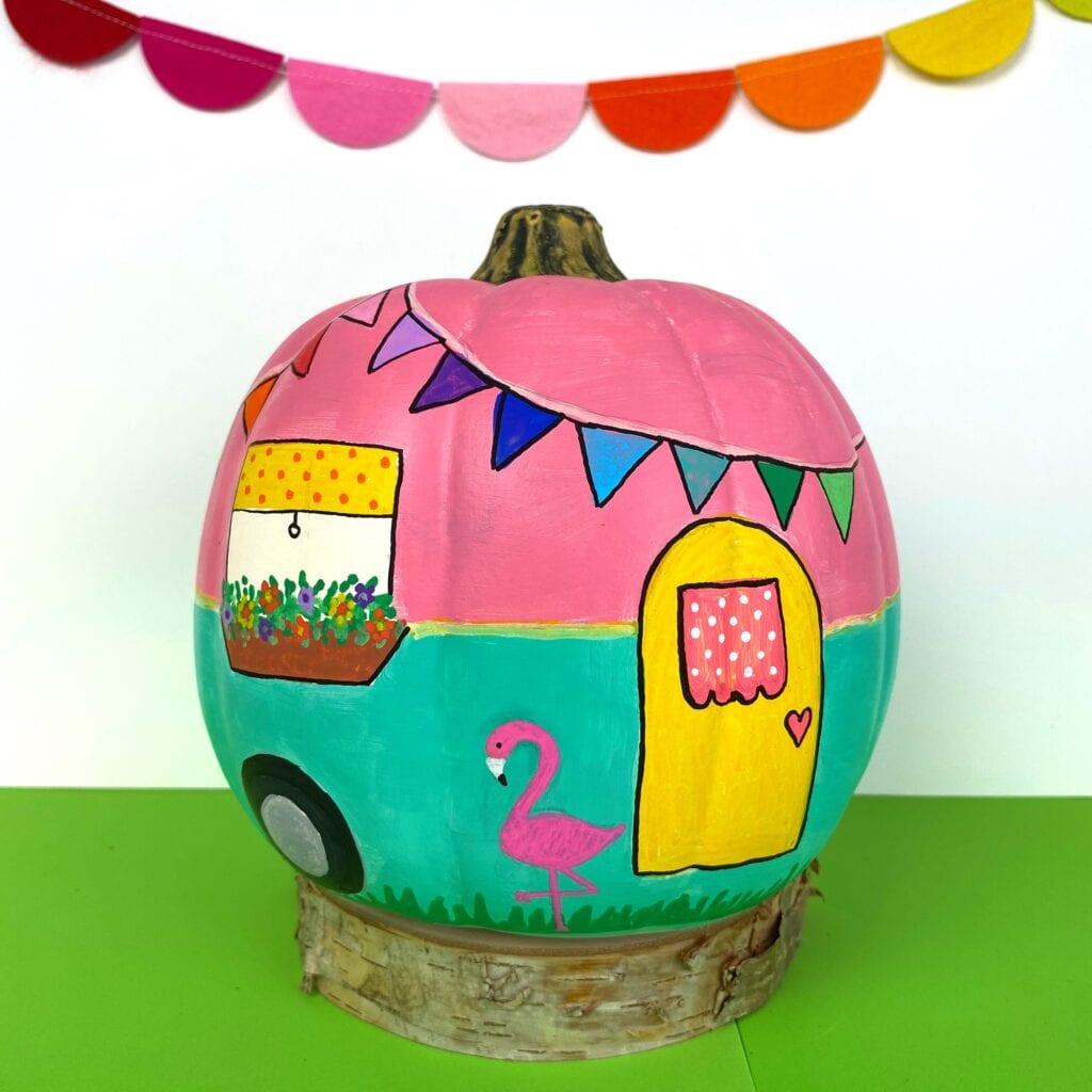Painted Pumpkin Camper Tutorial