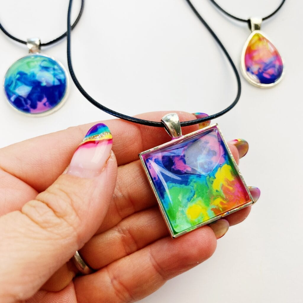 Melted Crayon Jewelry