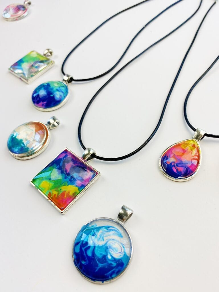 Melted Crayon Art Jewelry
