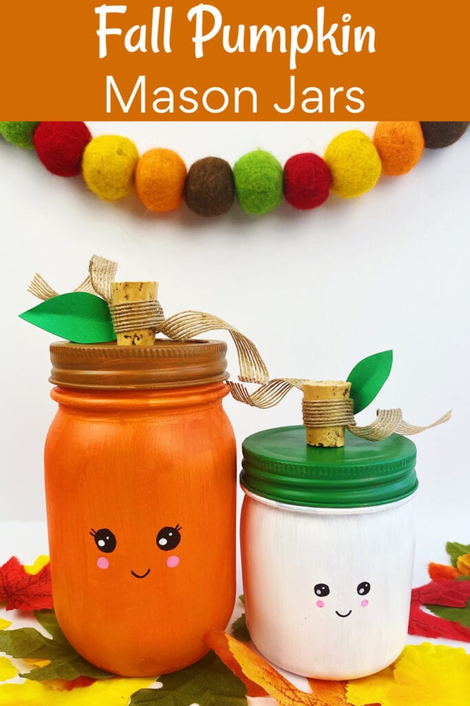 How to make a fall pumpkin mason jar craft