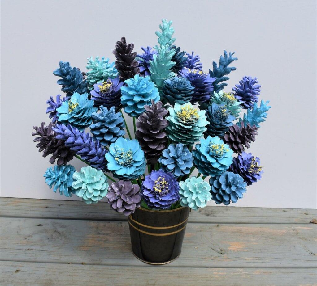 Pinecone Craft Flower Bouquet