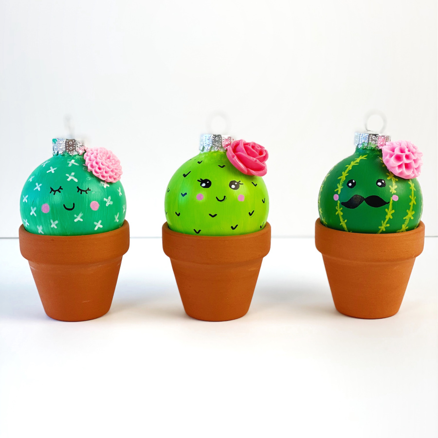 Christmas Cactus Ornament Craft