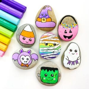 Halloween Painted Rocks Tutorial