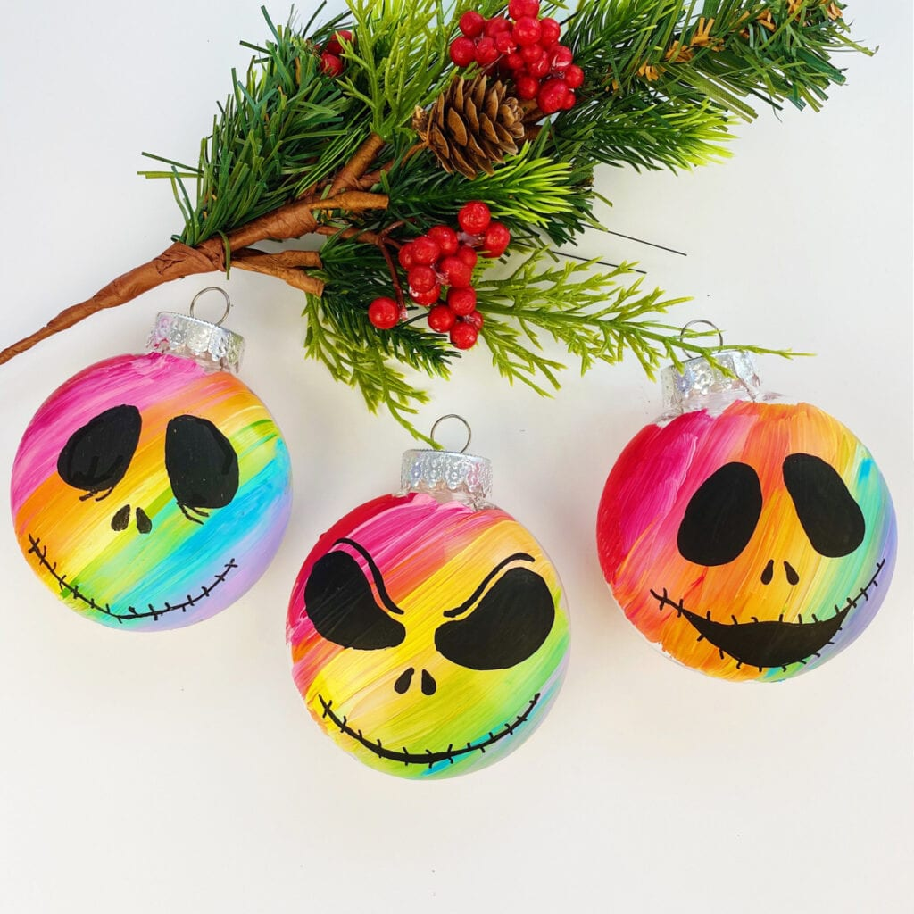 Nightmare Before Christmas Ornament Diy Color Made Happy