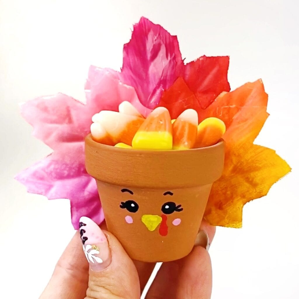 Flower Pot Turkey Craft for Thanksgiving
