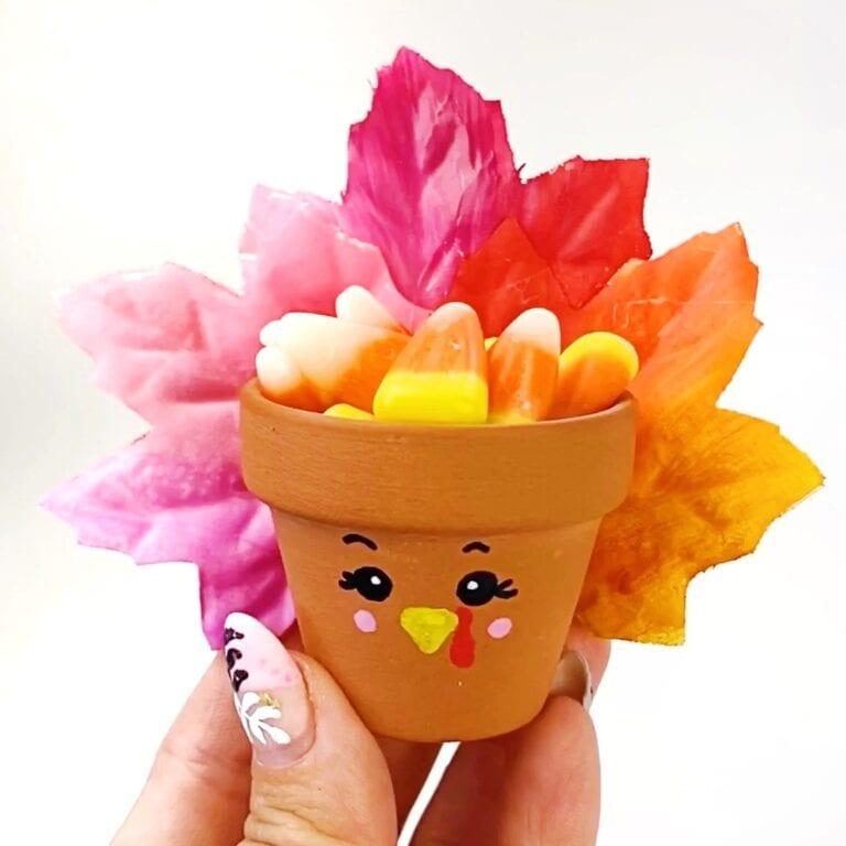 Flower Pot Turkey Craft for Thanksgiving