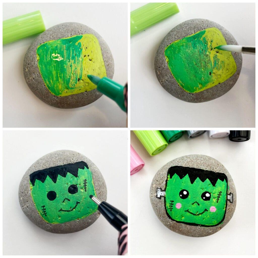 Halloween Painted Rock Idea