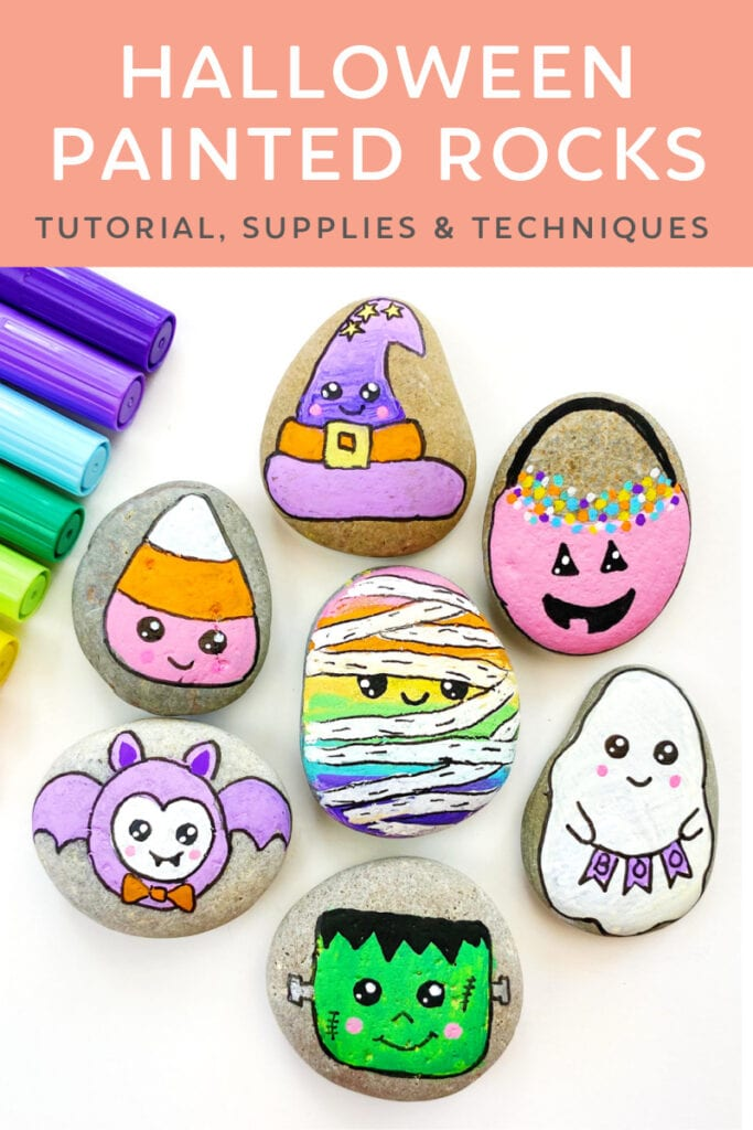 Halloween Painted Rocks Ideas and Tutorial