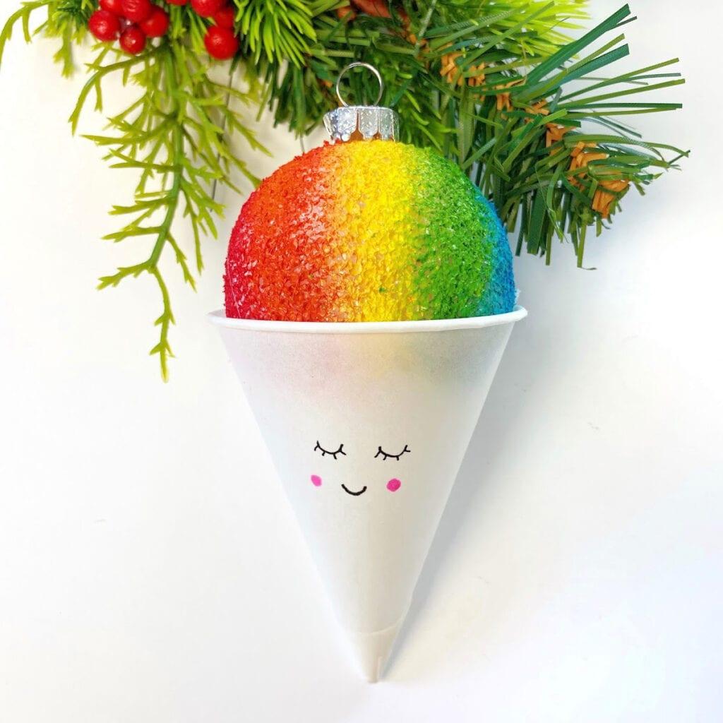 Snow Cone Ornament Christmas Craft