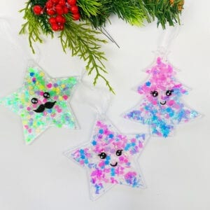 Easy Glitter Ornaments Christmas Craft thumbnail