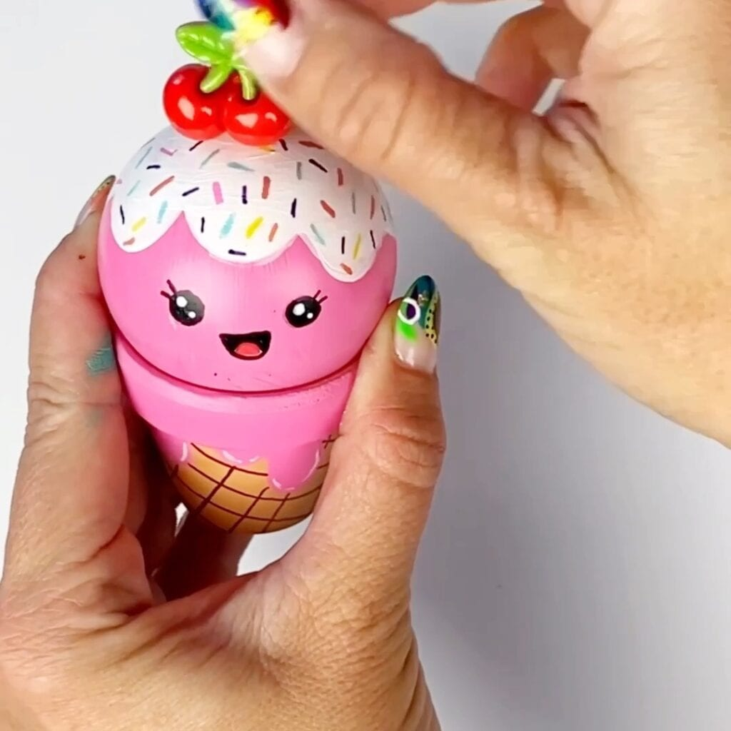 DIY Ice Cream Ornaments