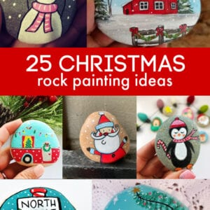 25 Christmas Rock Painting Ideas thumbnail