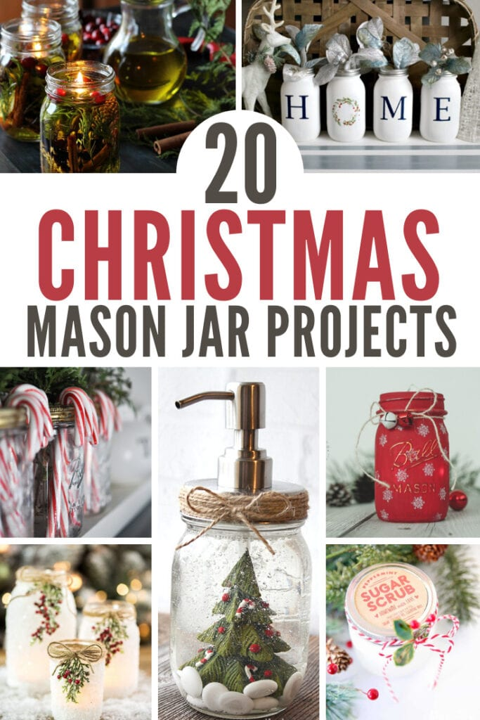 20 Christmas Mason Jar Crafts