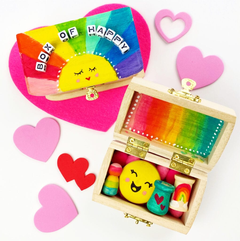 DIY Painted Box - Box of Happy