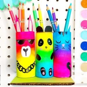 DIY Paper Roll Craft Pencil Holder thumbnail