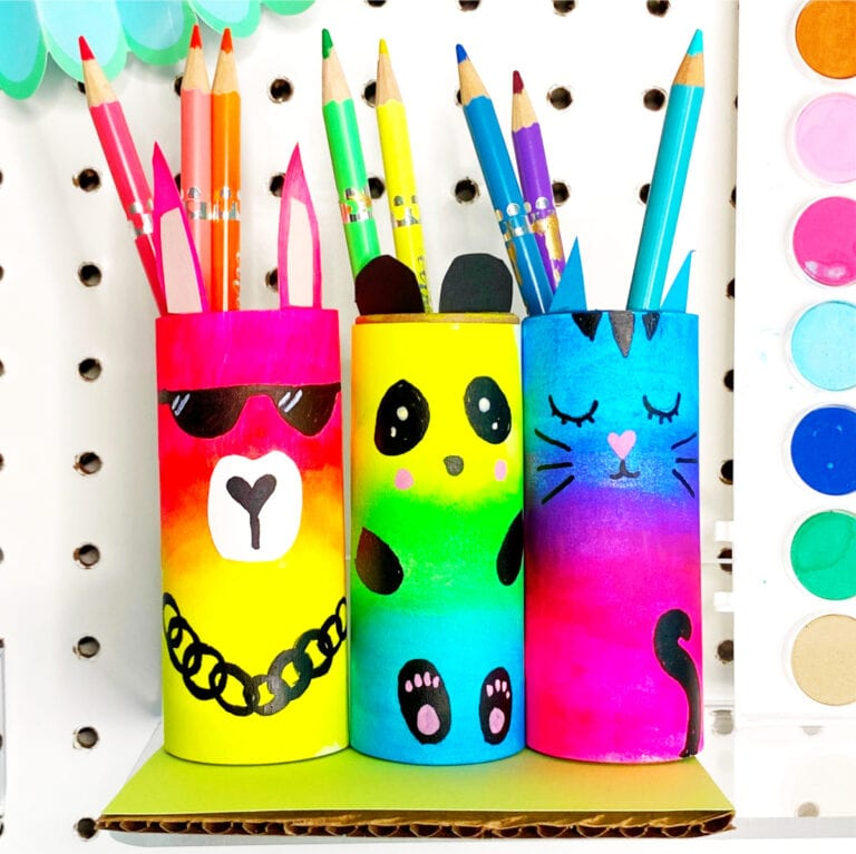 DIY Paper Roll Craft Pencil Holder