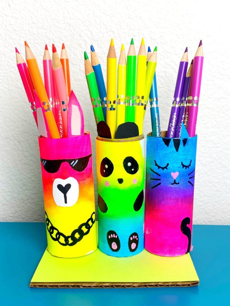 DIY Paper Roll Craft Pencil Holder