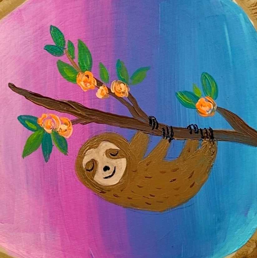 Easy Sloth Painting Tutorial