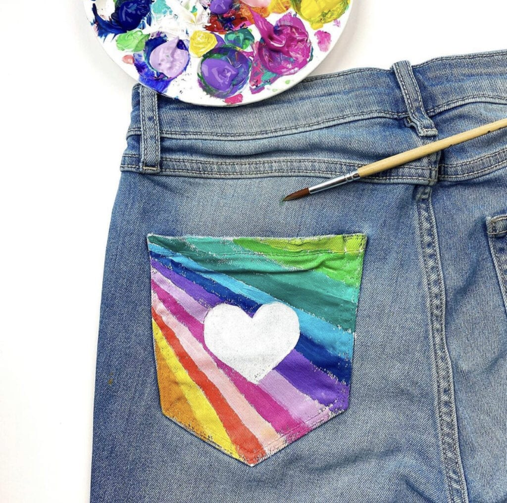 How to Paint Jeans Tutorial