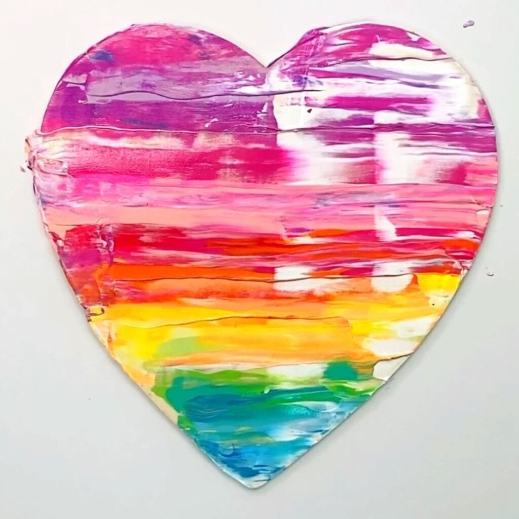 Easy Abstract Painting Ideas - Painted Hearts