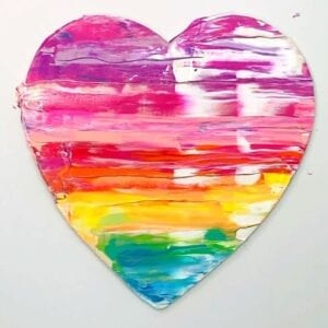 Easy Abstract Painting Ideas – Painted Hearts thumbnail