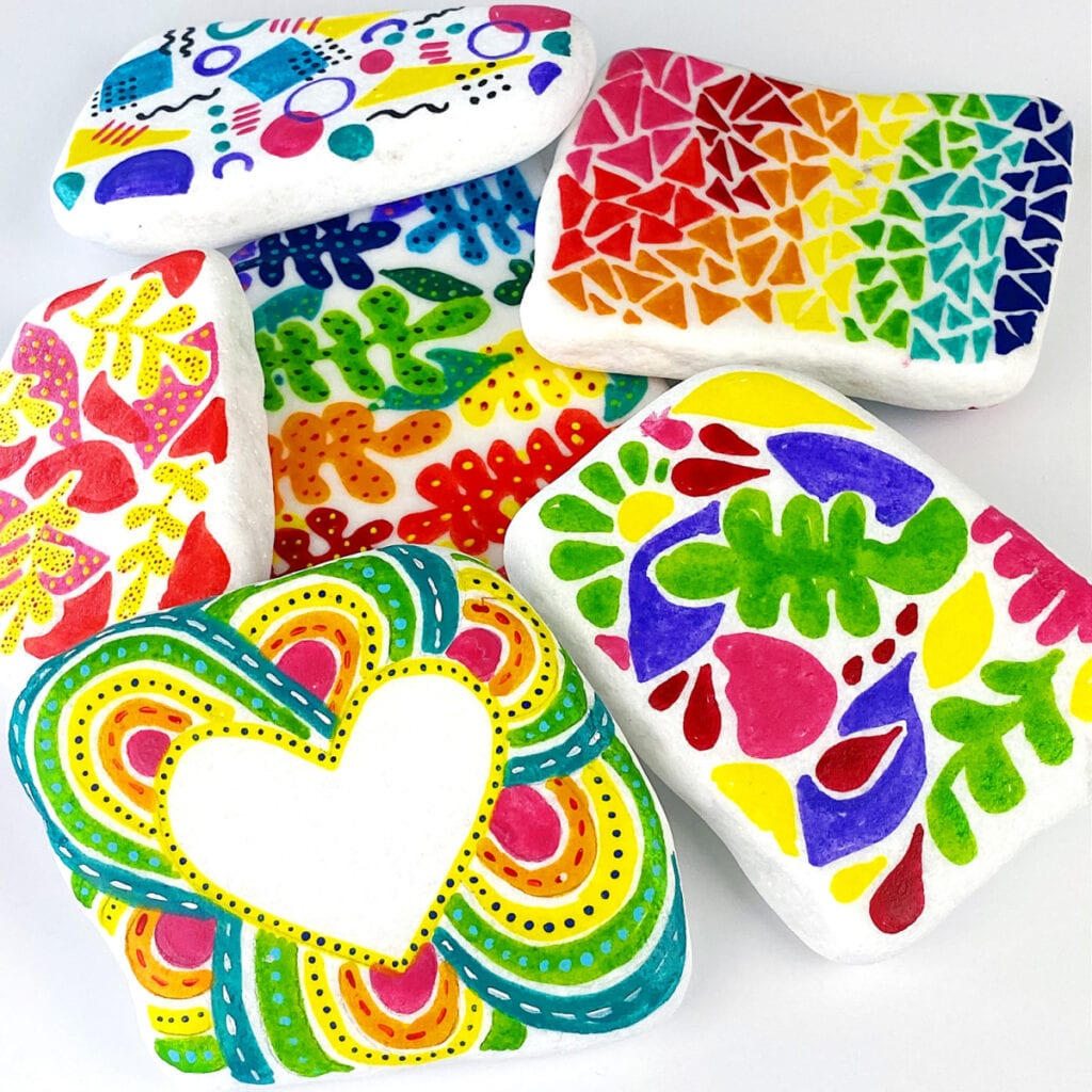 How to Make Doodle Painted Rocks and the Best Sealant to Use