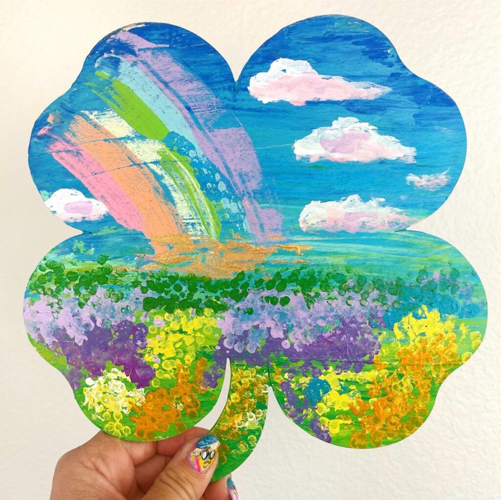 Shamrock Art Project - St. Patrick's day art idea