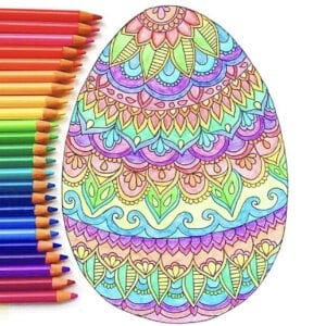 Easter Coloring Page – Free Easter Coloring Page thumbnail