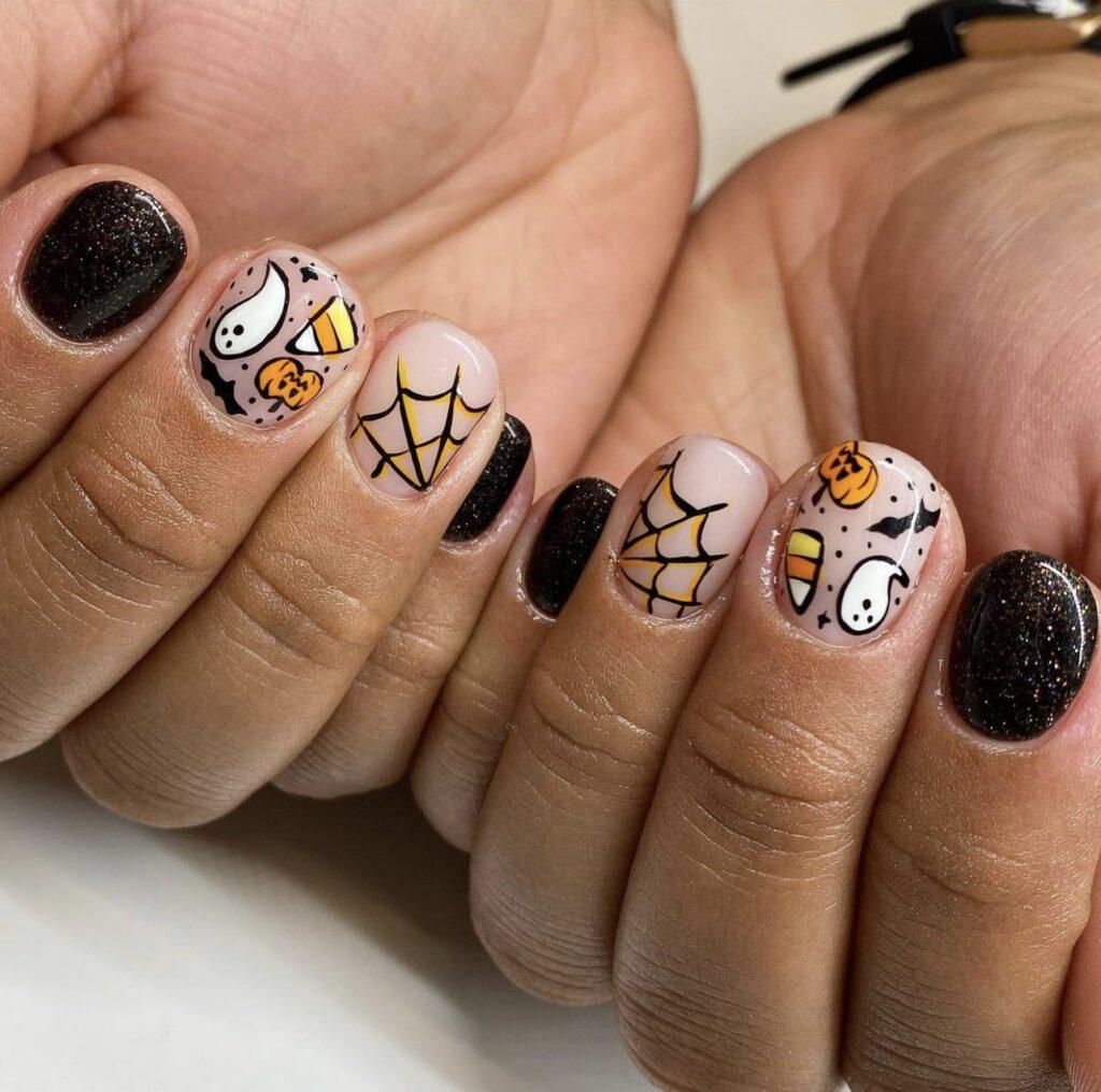 Easy Halloween Nails